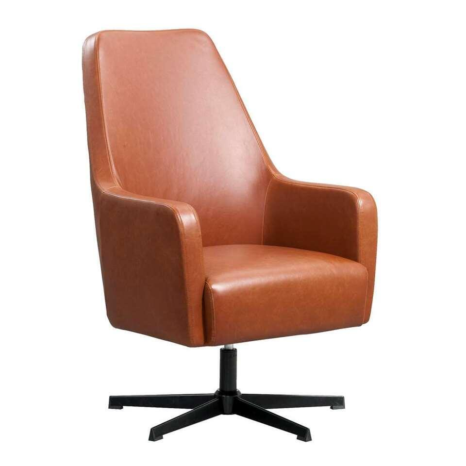 Relaxfauteuil Osterbro Valby - leatherlook - cognackleur