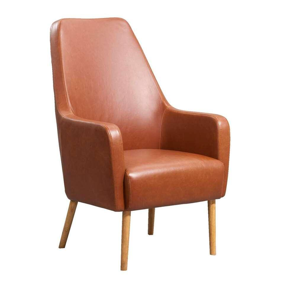 Relaxfauteuil Osterbro Sundby - leatherlook - cognac