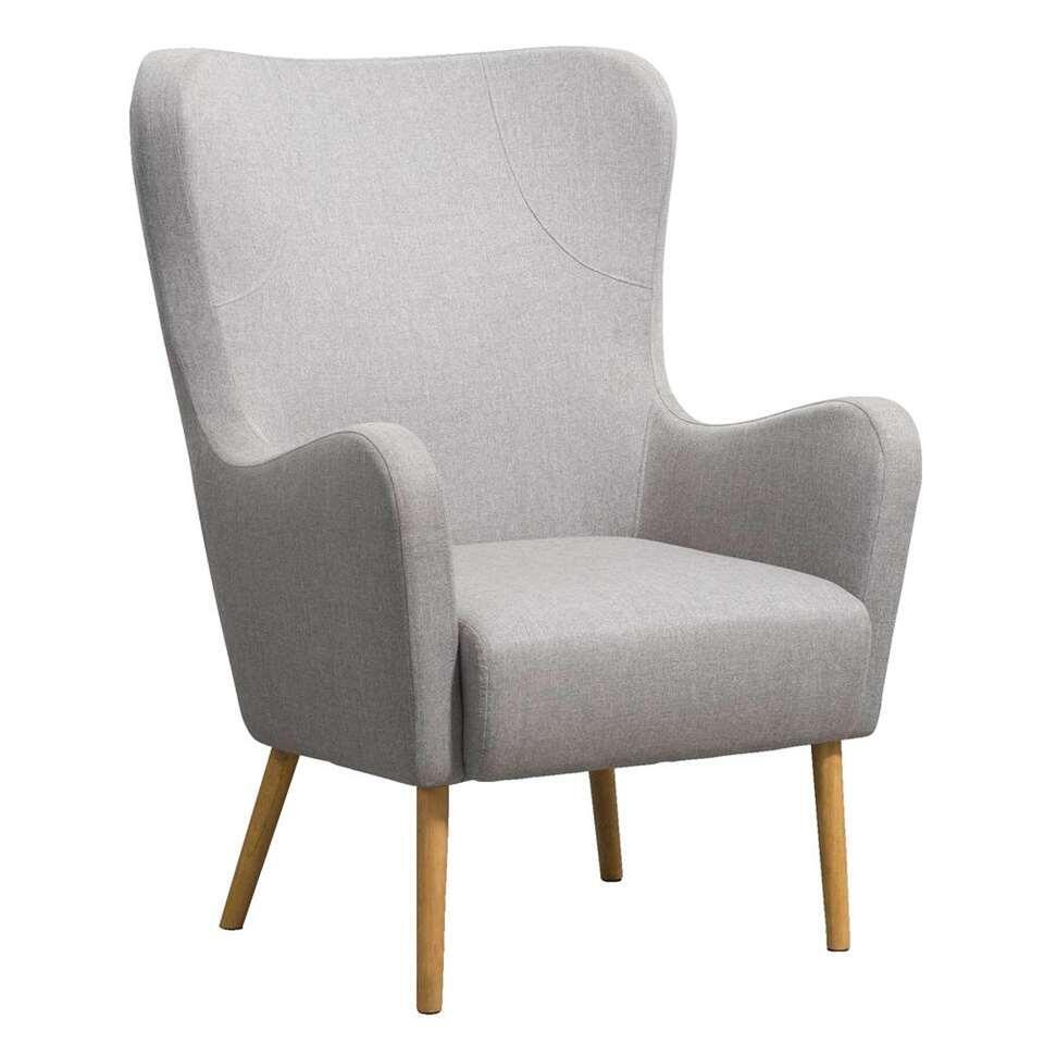 Relaxfauteuil Norrebro Sundby - stof - taupe/bruin