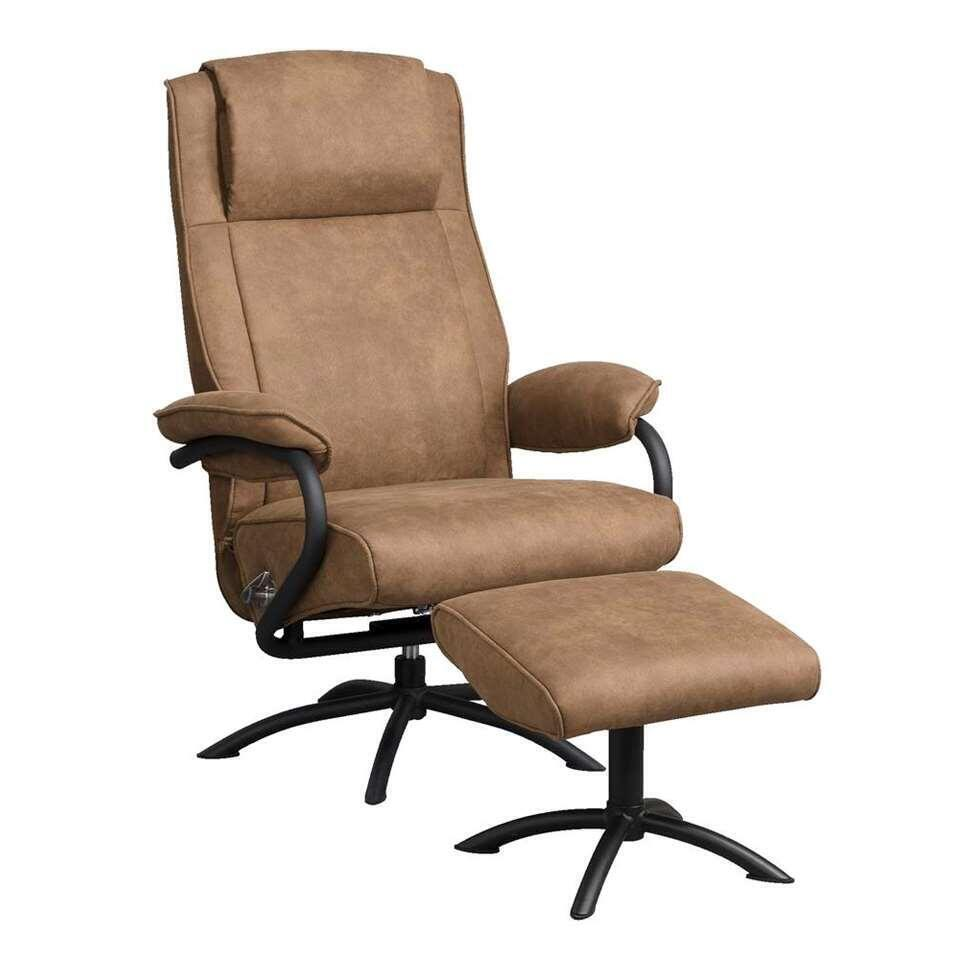 Relaxfauteuil Vic incl. hocker - taupe