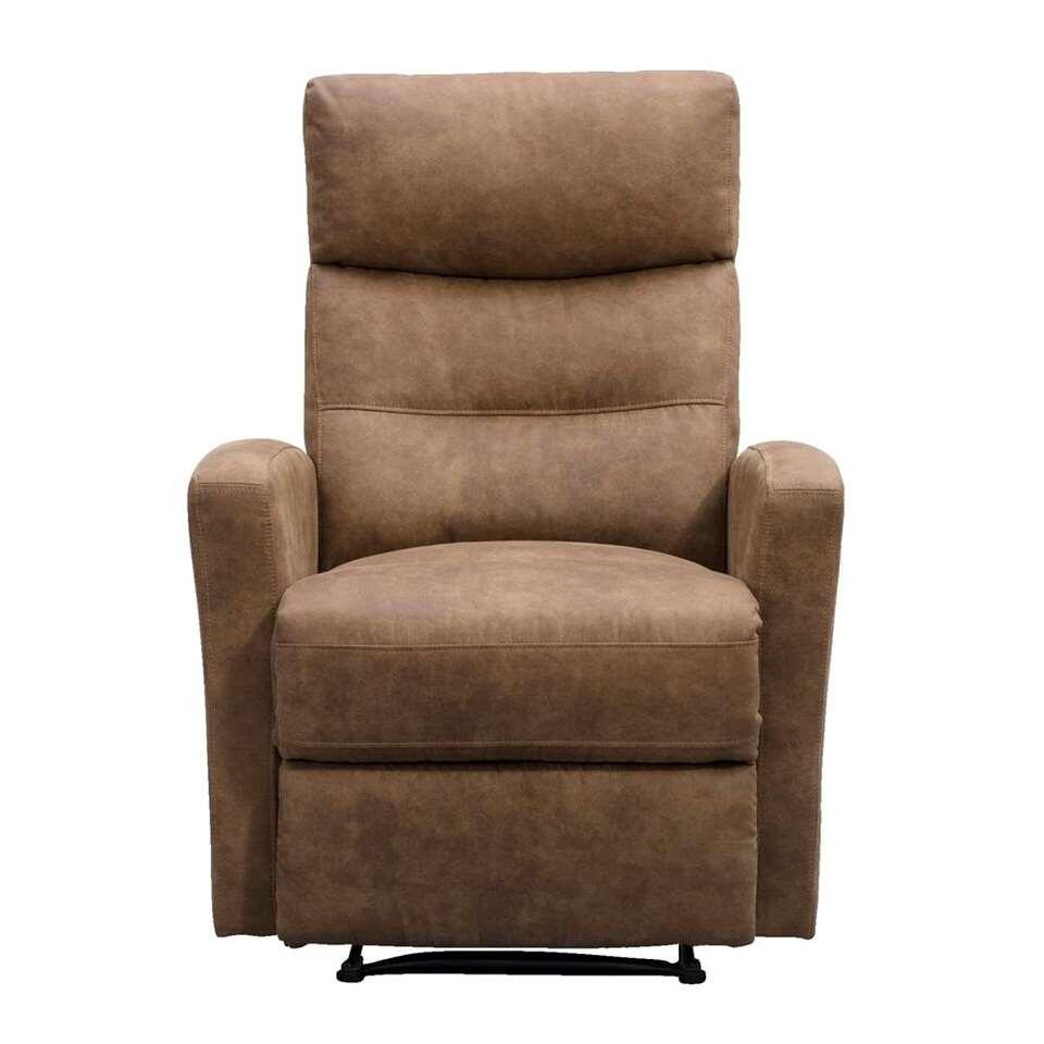 Stoffen Relax Fauteuil.Relaxfauteuil Jackson Stof Lichtbruin