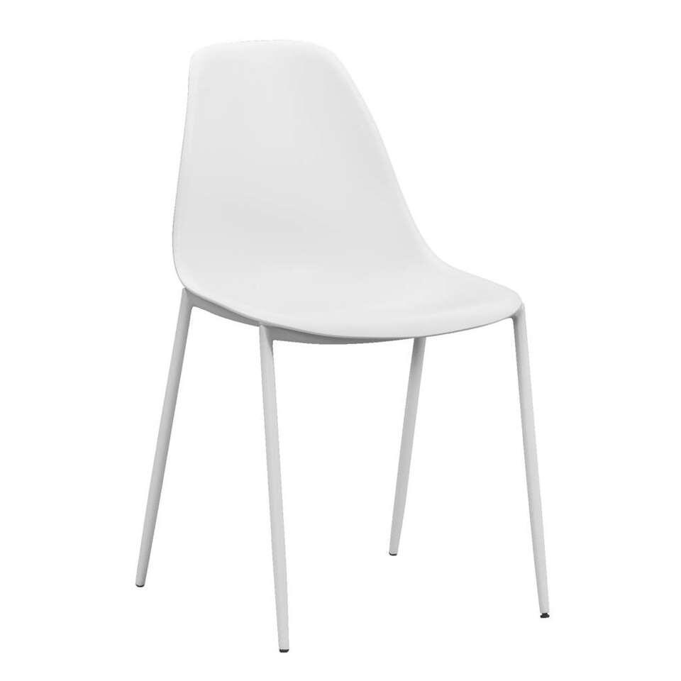 Eetkamerstoel Lund - kunststof - wit (4 stuks)