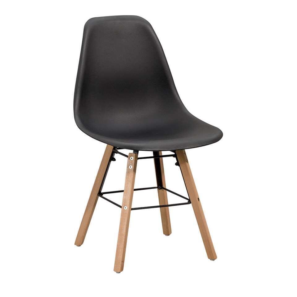 Eetkamerstoel elena kunststof zwart for Eetkamer stoel