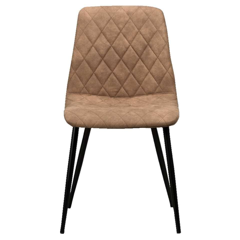 Eetkamerstoel mason stof mokkakleur for Eetkamer stoel