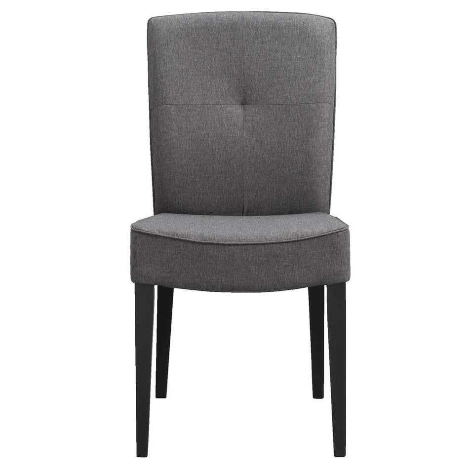 Chaise de salle à manger Romy - tissu - couleur anthracite