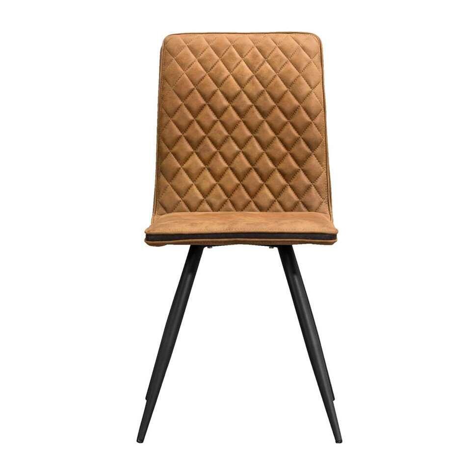Chaise de salle à manger Baja - tissu - cognac
