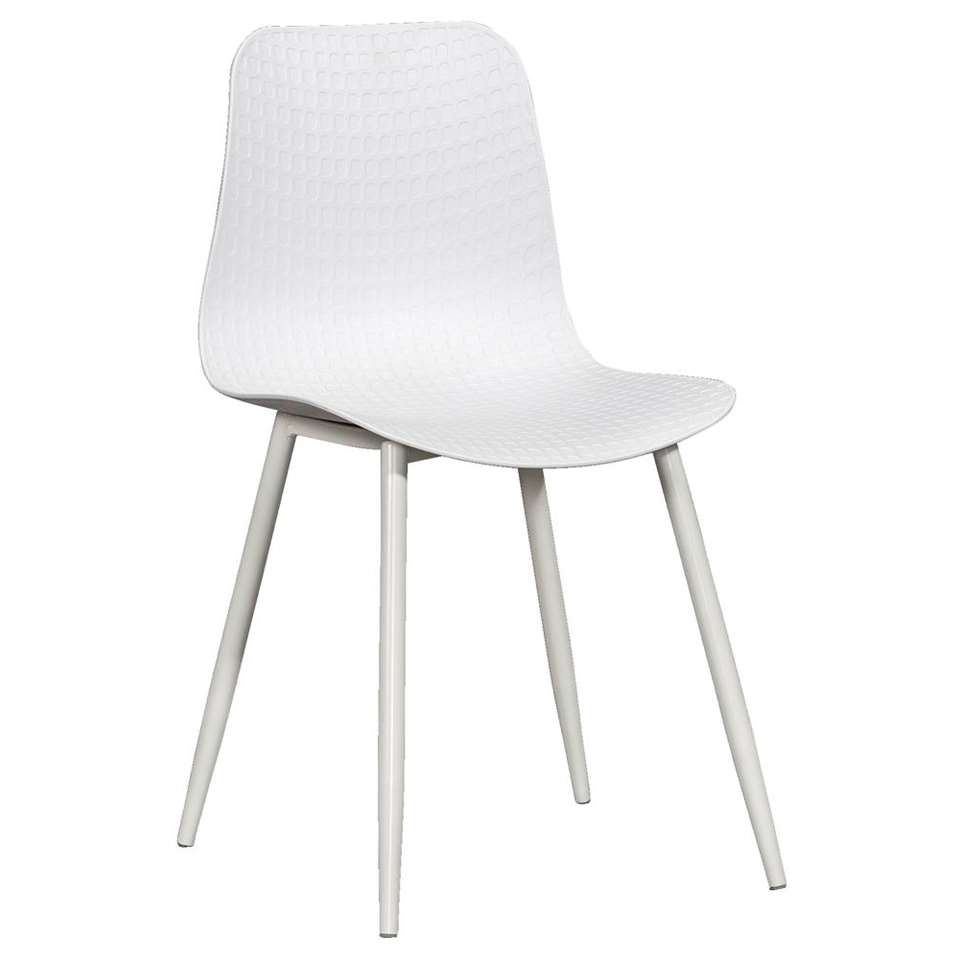 Chaise de salle à manger Ravi - plastique - blanche