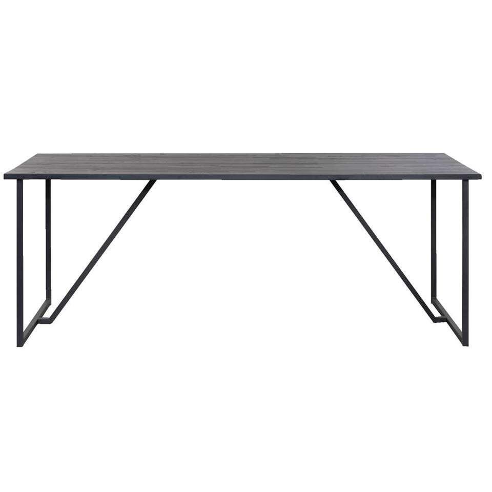 Eetkamertafel Julius – zwart – 200×85 cm – Leen Bakker
