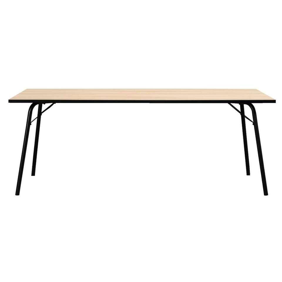 Eetkamertafel Skara - eikenkleur - 75x200x90 cm - Leen Bakker