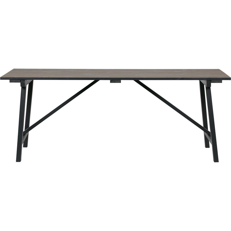Woood table Derby - pin - 76x180x90 cm
