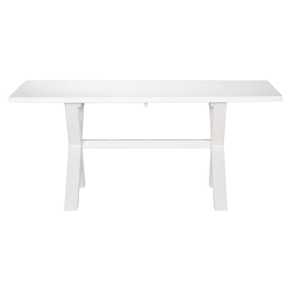 Eetkamertafel Bas - off white - 78x180x90 cm - Leen Bakker