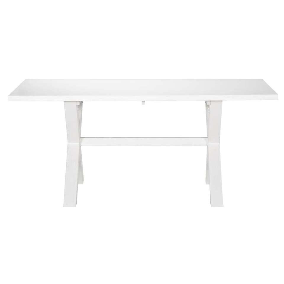 Eetkamertafel Bas - off white - 78x200x100 cm - Leen Bakker