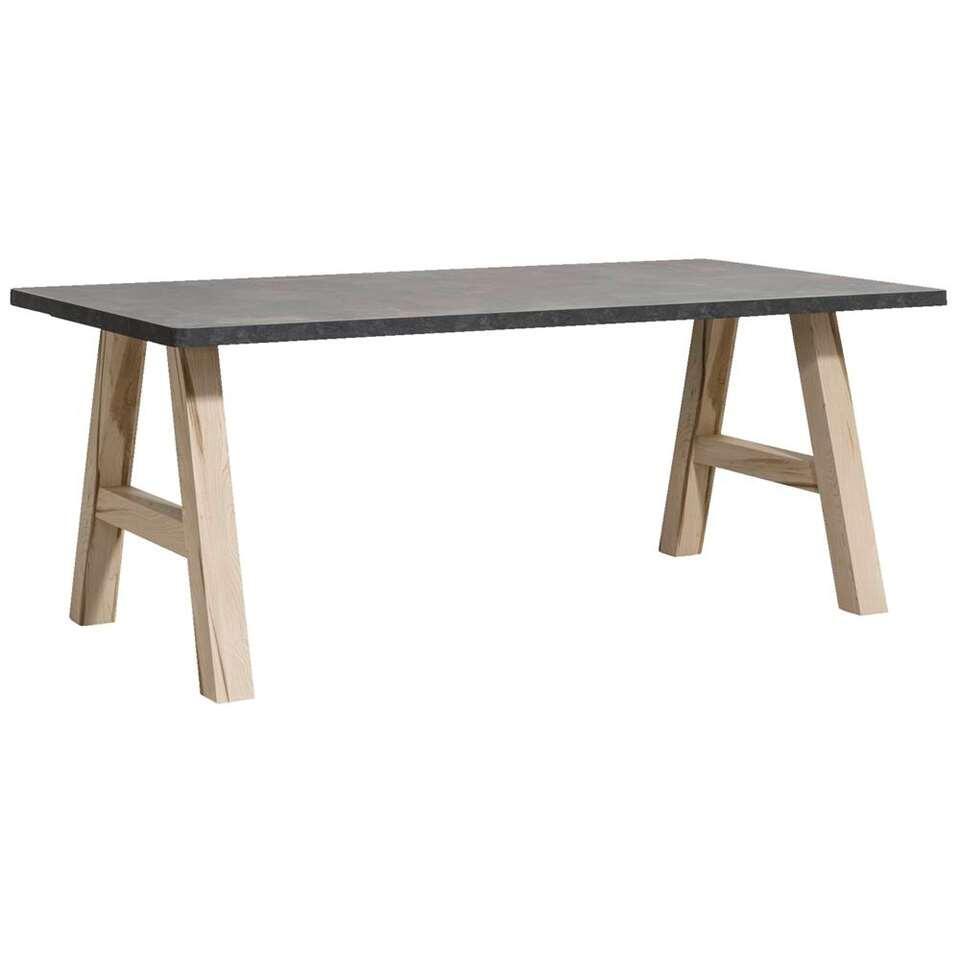 Eetkamertafel Vince - betonlook - 75x190x100 cm