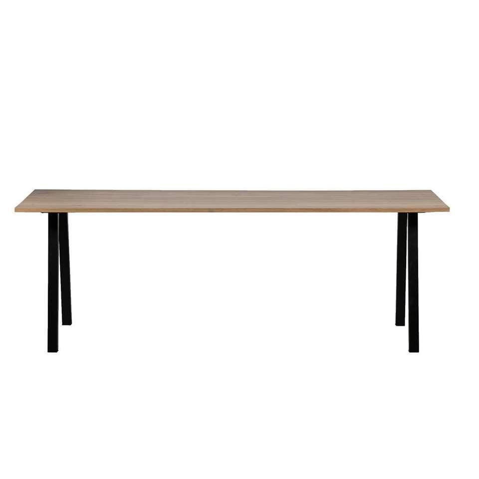 Woood table de salle à manger Blackburn - brune/noire - 74x180x90 cm