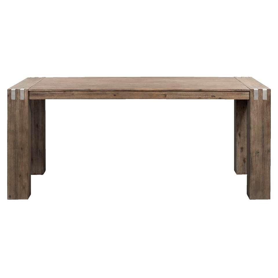 Eetkamertafel Ilan - warm grijs - 78x200x100 cm - Leen Bakker