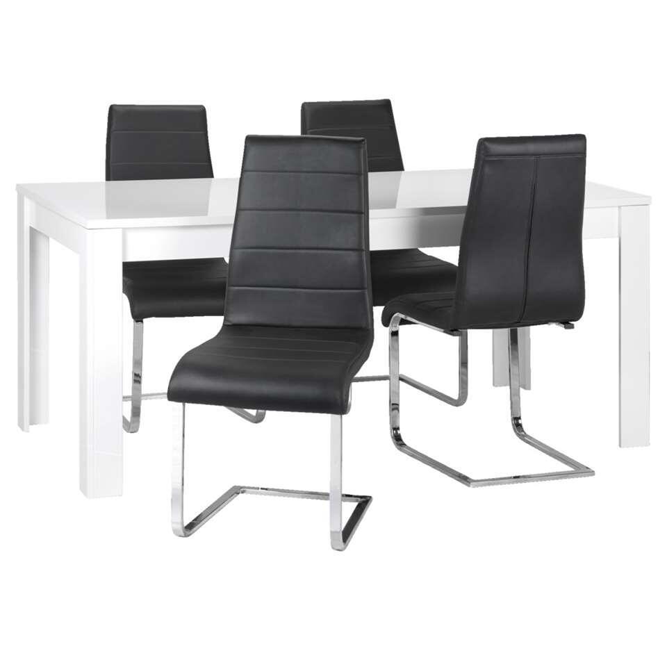 Eettafel Modern Wit.Eetkamertafel Amalfi Hoogglans Wit 79x160x90 Cm