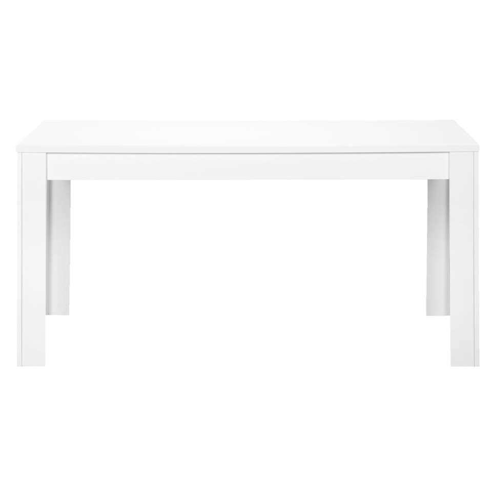 Eetkamertafel Amalfi - hoogglans wit - 79x160x90 cm - Leen Bakker