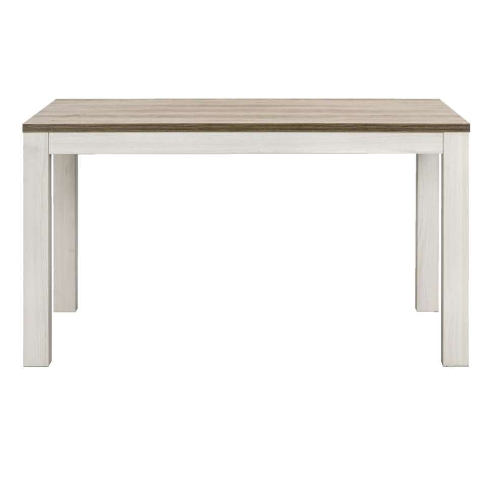 Eetkamertafel Lynn – wit eikenkleur – 77x140x90 cm – Leen Bakker