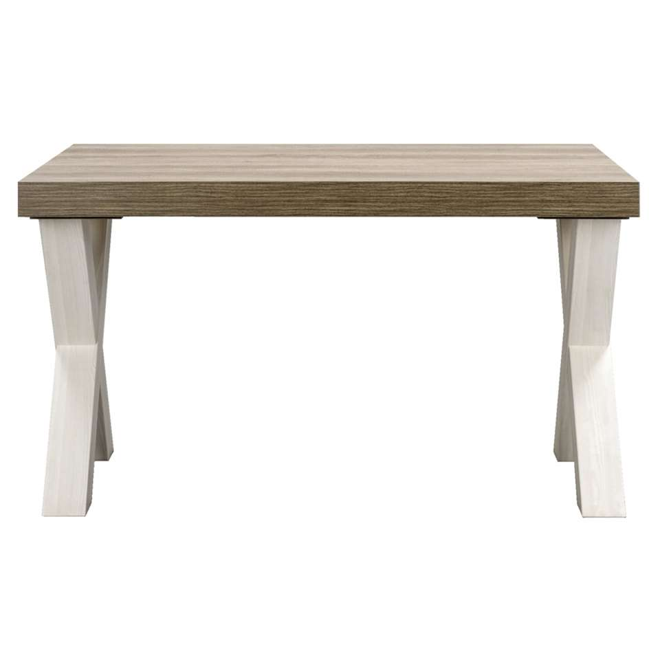 Eetkamertafel Lynn - wit eikenkleur - 77,5x138x102 cm - Leen Bakker