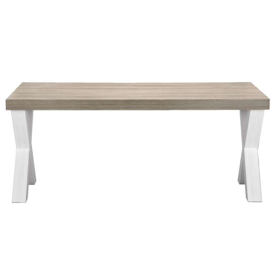 Eetkamertafel Lynn - wit eikenkleur - 77,5x164x102 cm - Leen Bakker