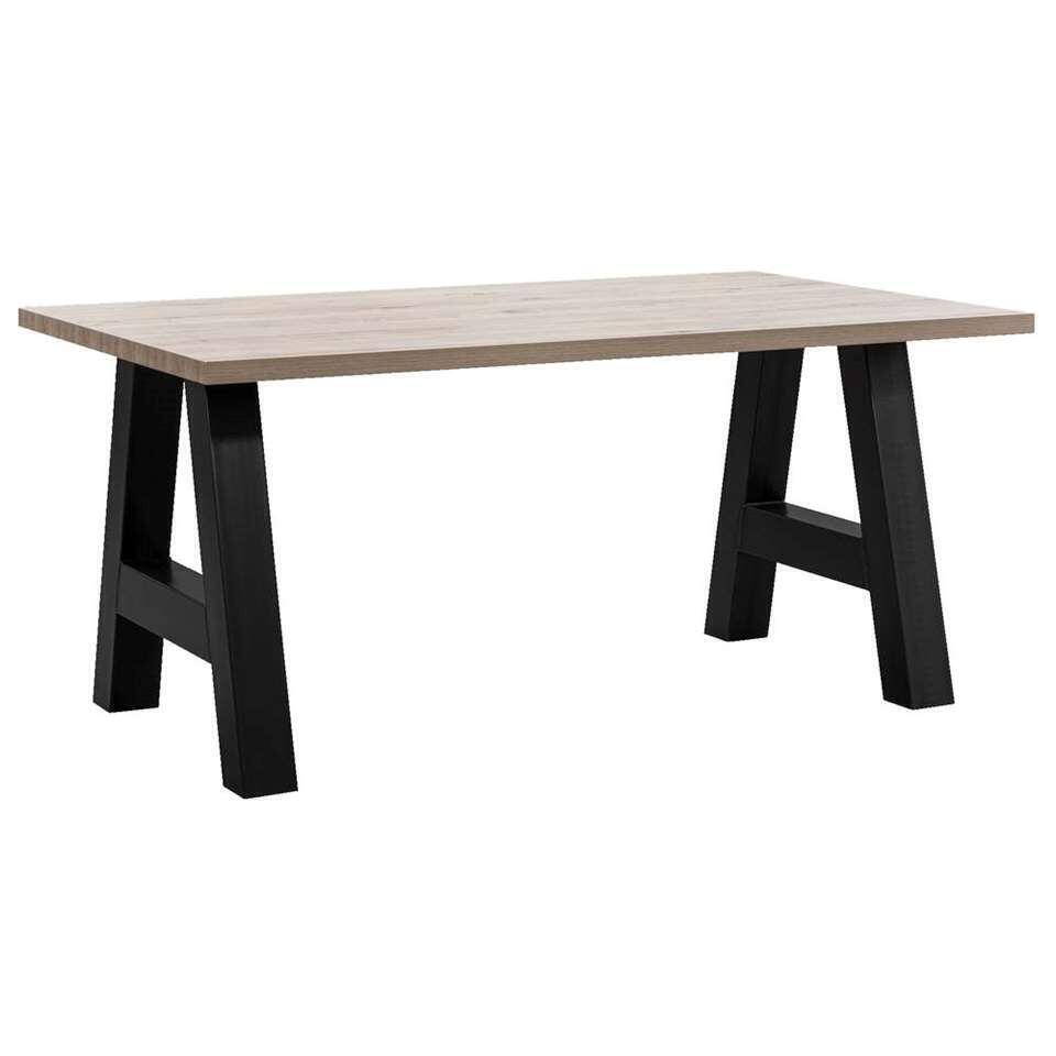 Eetkamertafel Timon A-poot - vergrijsd eiken - 164x100 cm