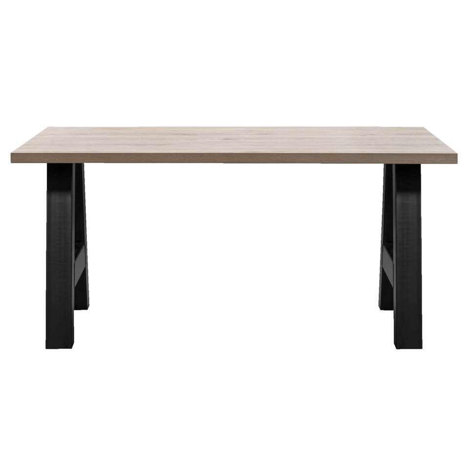 Table de salle à manger Timon pieds A - gris couleur chêne - 184x100 cm