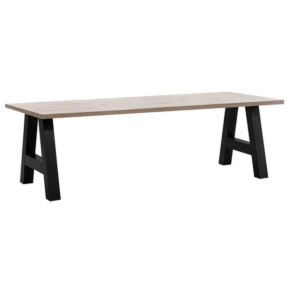 Table de salle à manger Timon pieds A - gris couleur chêne - 226x100 cm
