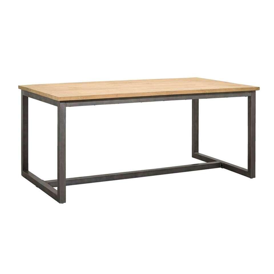 Eetkamertafel Logan - naturel/grijs - 78x160x100 cm