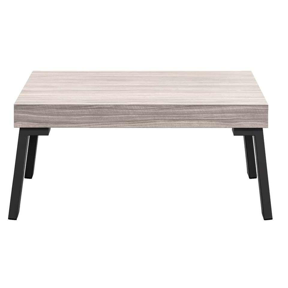 Salontafel Nero - grijs eikenkleur - 40x86x86 cm - Leen Bakker