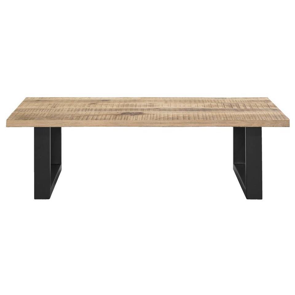 Salontafel Trevor - bruin/zwart - 42x140x80 cm - Leen Bakker