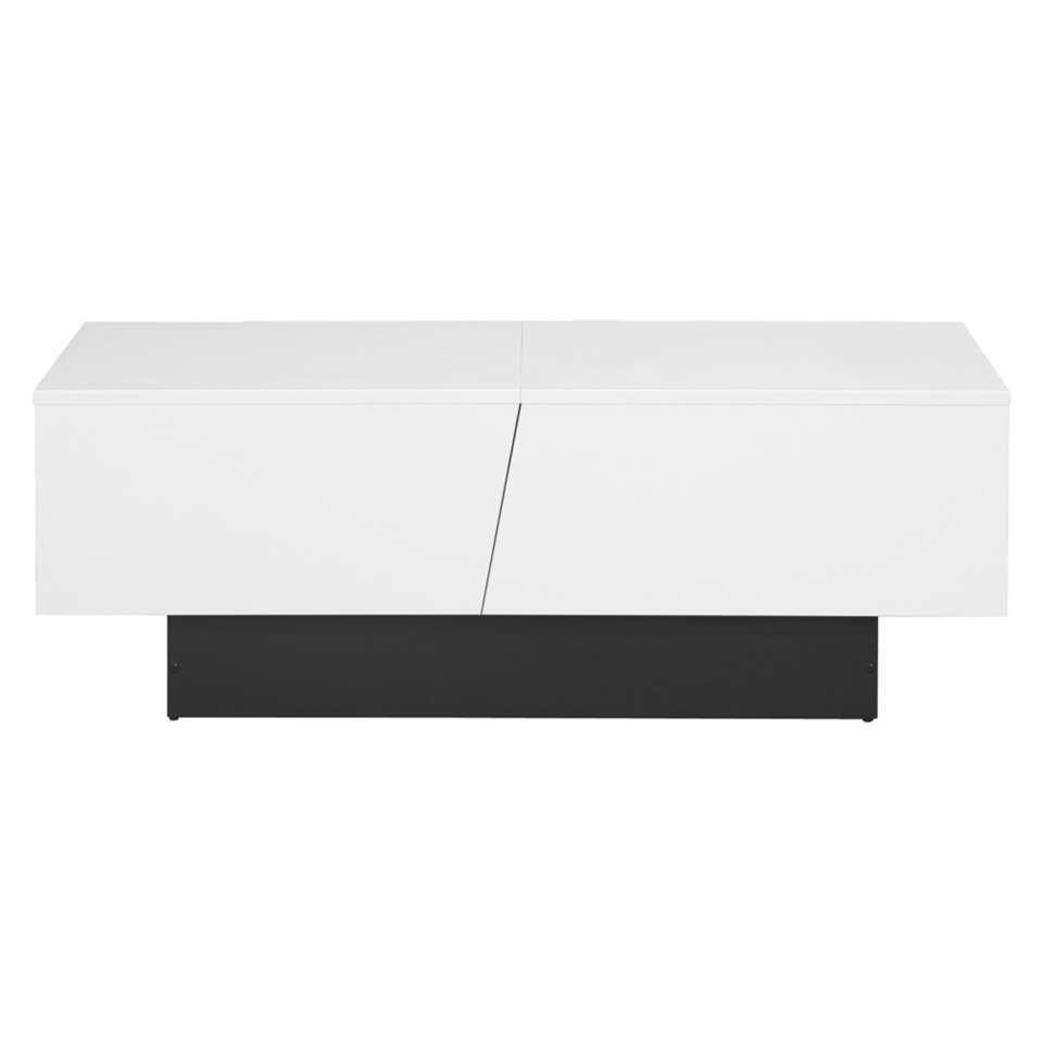 Salontafel Oslo - hoogglans wit - 40x113x60 cm - Leen Bakker