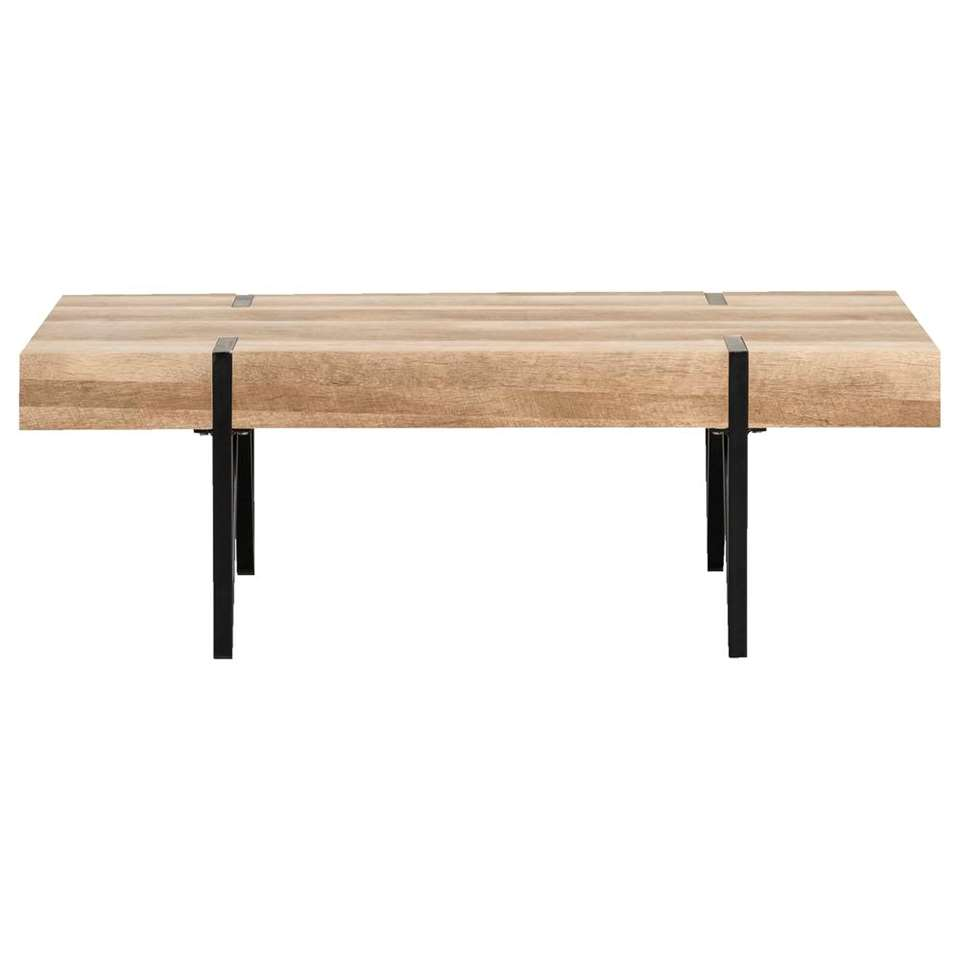 Salontafel Tobias - bruin/zwart - 40x120x60 cm - Leen Bakker