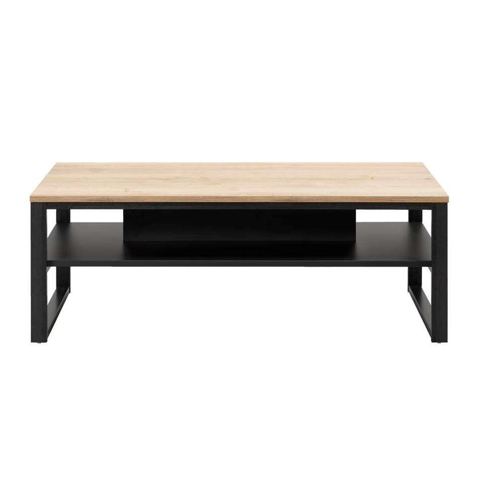 Table de salon Malaga - couleur chêne/noire - 44x118x67 cm