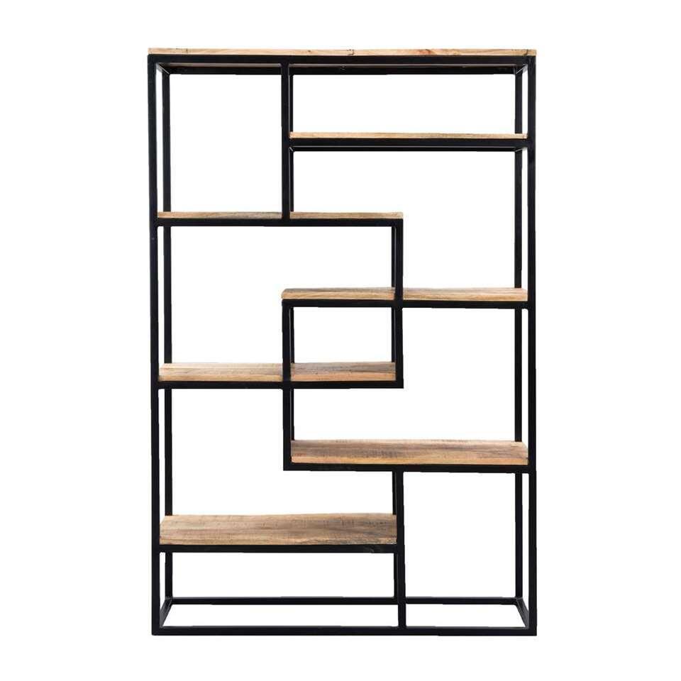 Wandmeubel Kyan is een kast met vele mogelijkheden. Er zijn genoeg planken aanwezig die ruimte bieden voor het uitstallen van je mooiste spullen!
