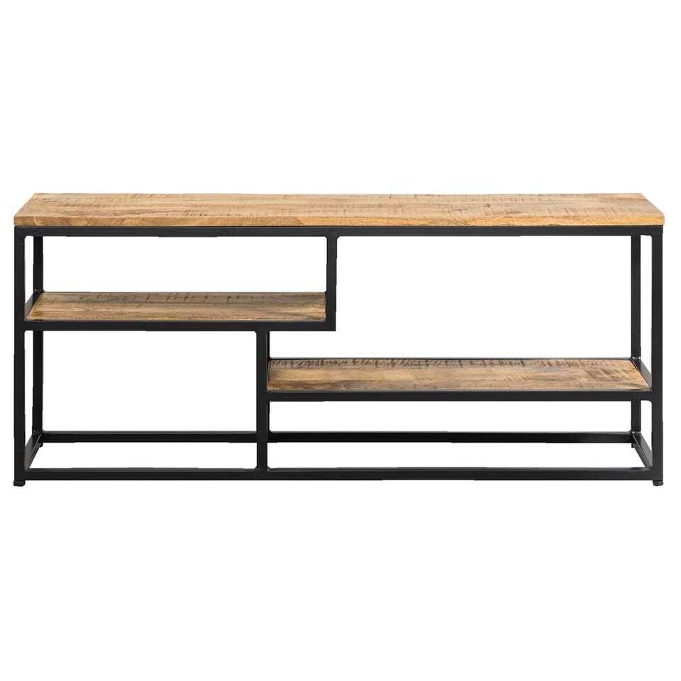 TV-dressoir Kyan - zwart/naturel - 50x120x35 cm