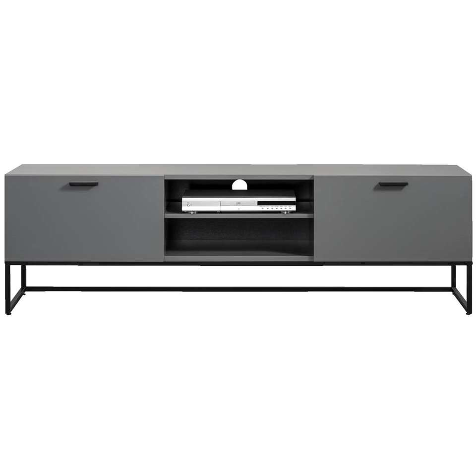 Tv-meubel Kioto – grijs – 58x176x43 cm – Leen Bakker