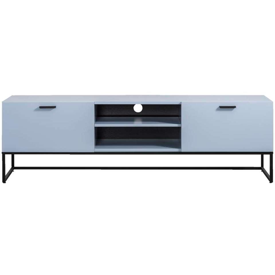 Meuble TV Kioto - bleu - 58x176x43 cm