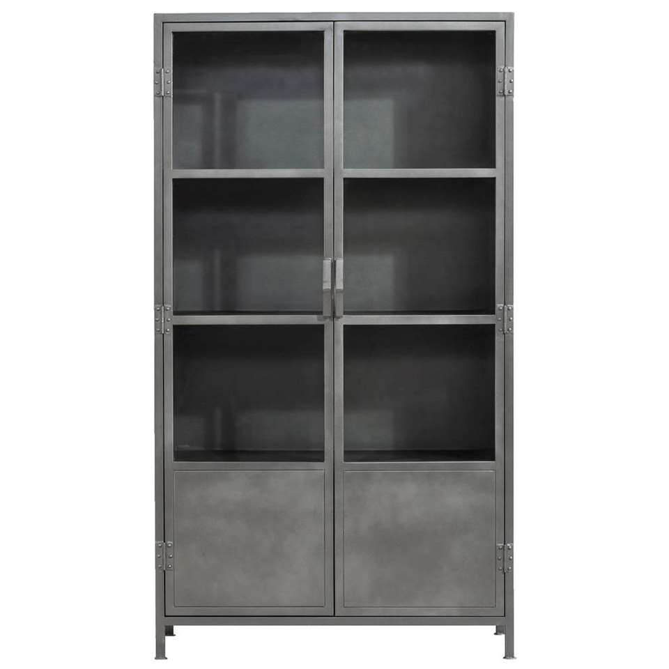 Kast Ziggy - grijs - 180x40x100 cm