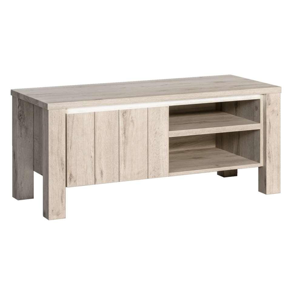 tv meubel jens met verlichting grijs eikenkleur 52x118x50 cm