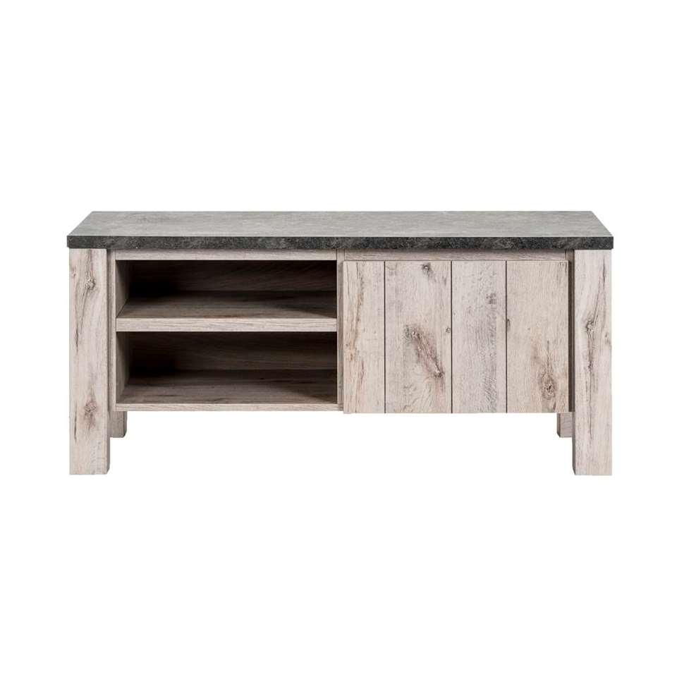 TV-meubel Jens - grijs - 52x118x50 cm - Leen Bakker