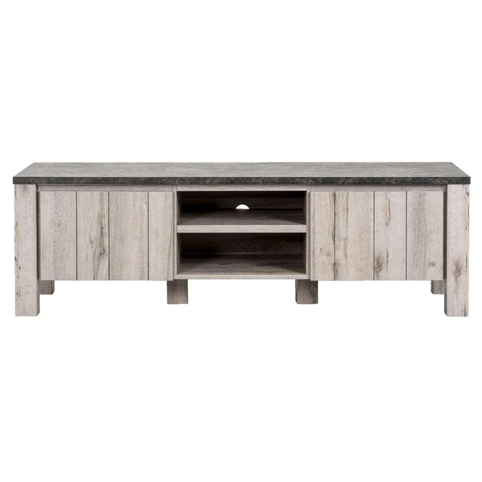 TV-meubel Jens - betonkleur - 52x168x50 cm - Leen Bakker