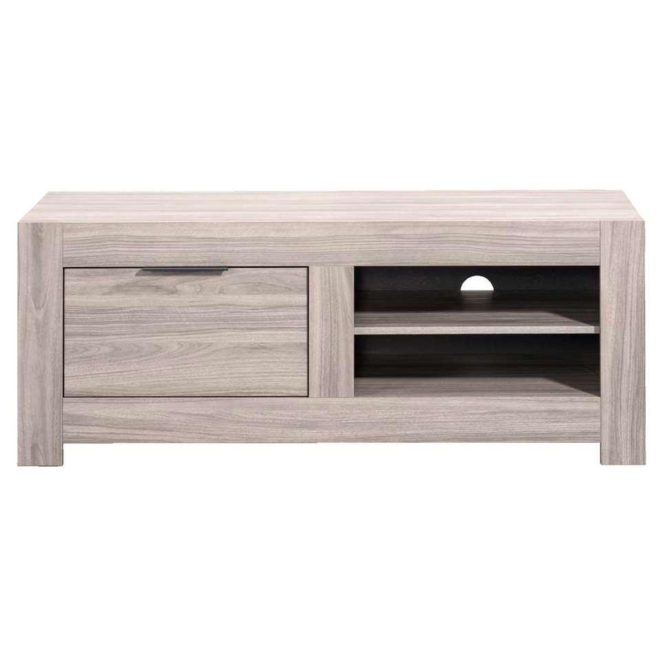 TV-meubel Nero - grijs eikenkleur - 51x140x55 cm - Leen Bakker