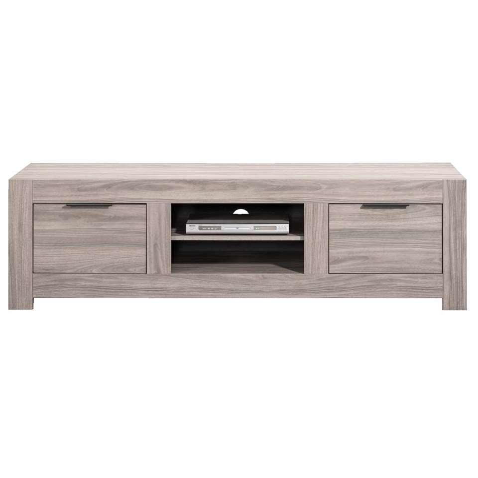 TV-meubel Nero – grijs eikenkleur – 51x191x55 cm – Leen Bakker