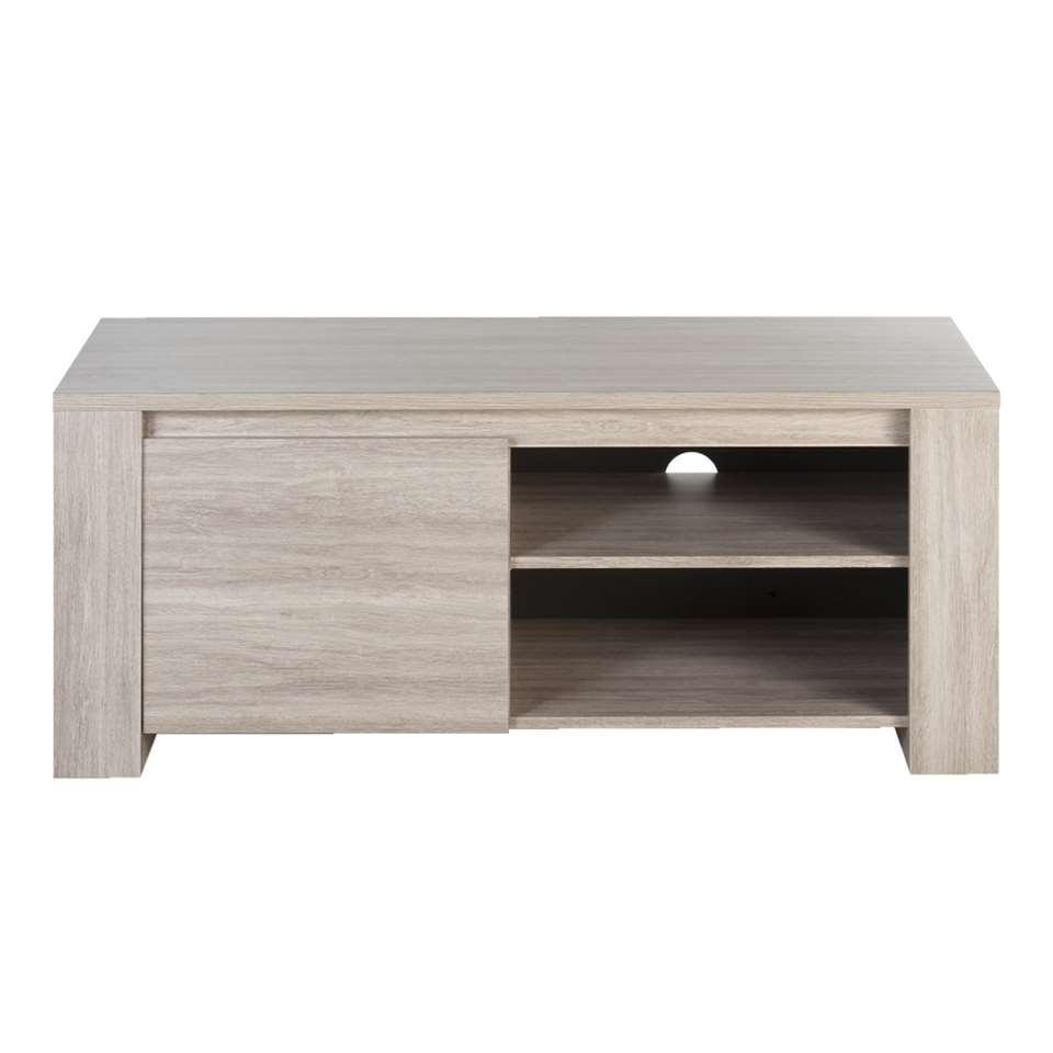 TV-meubel Yannick – grijs eikenkleur – 51x130x51 cm – Leen Bakker