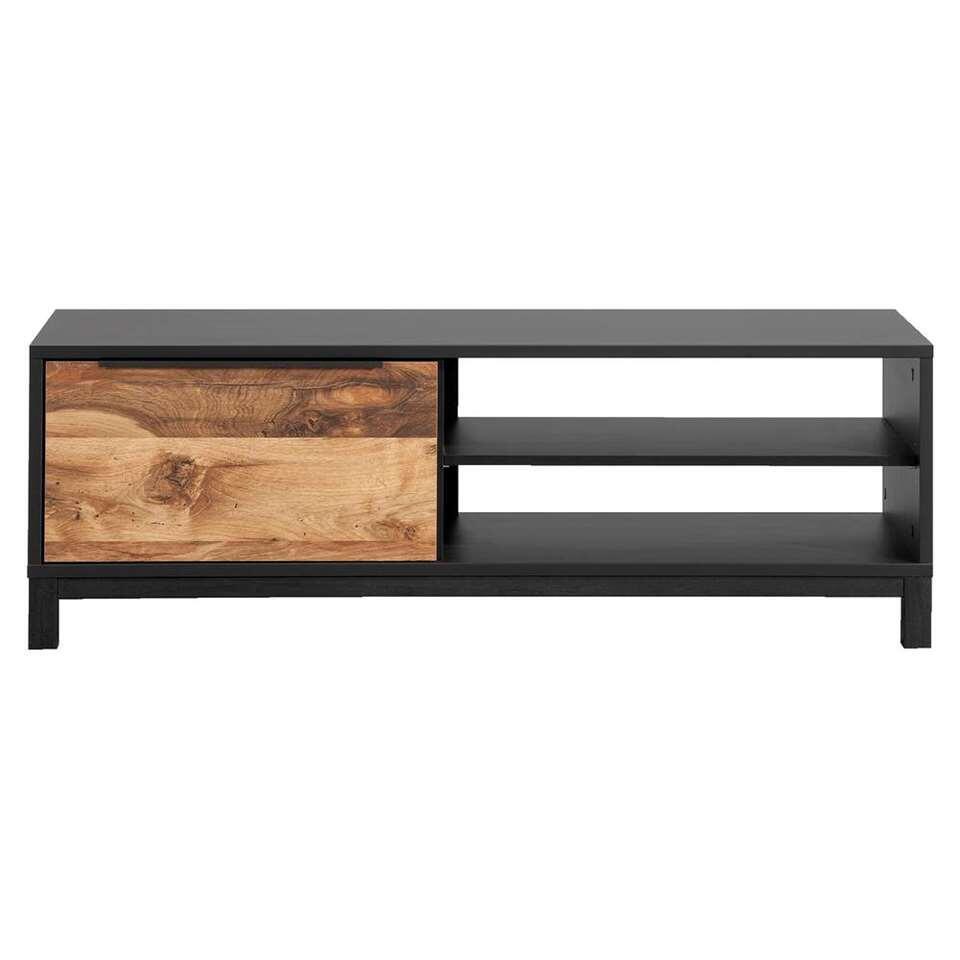 TV- dressoir Luc - antraciet/eikenkleur - 44x128x48 cm