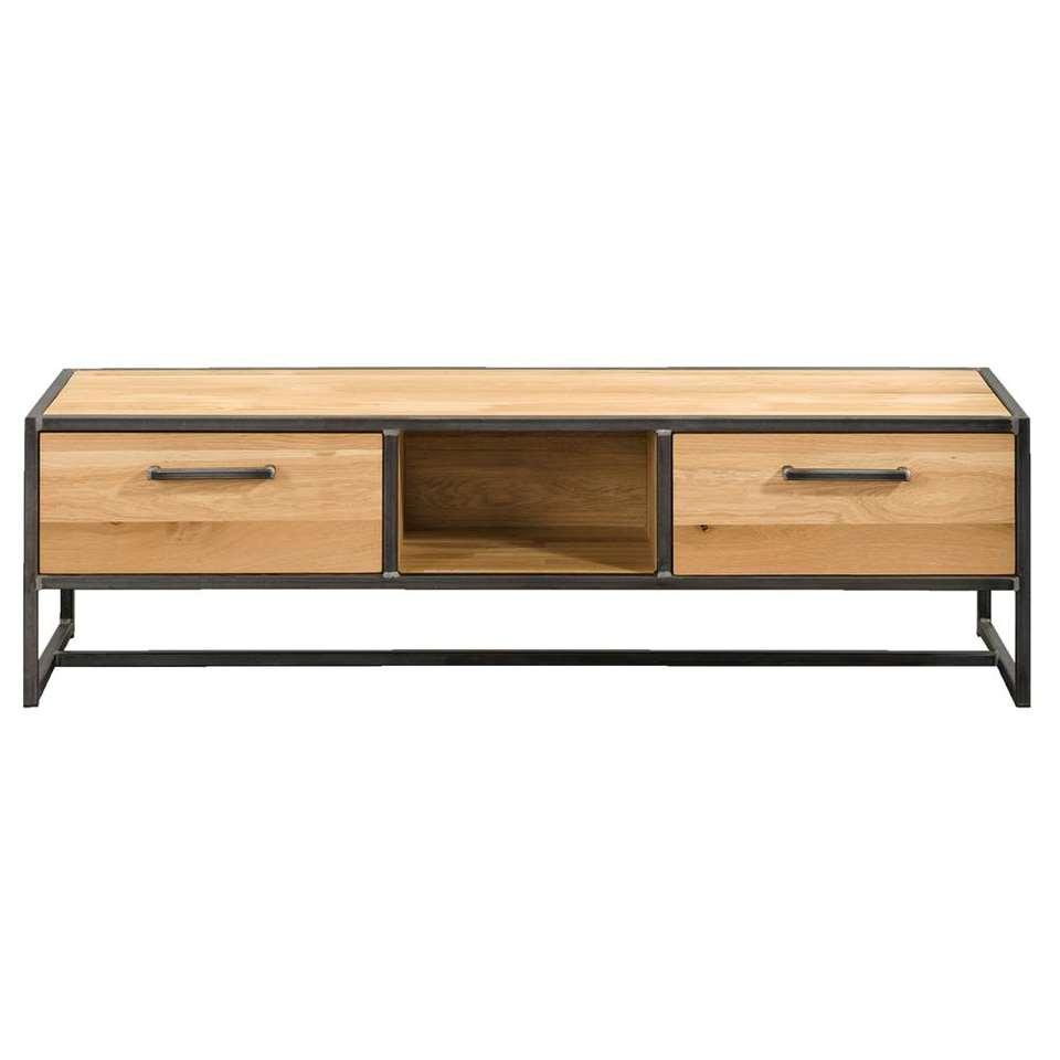 Tv-dressoir Jace - naturel/grijs - 40x140x45 cm
