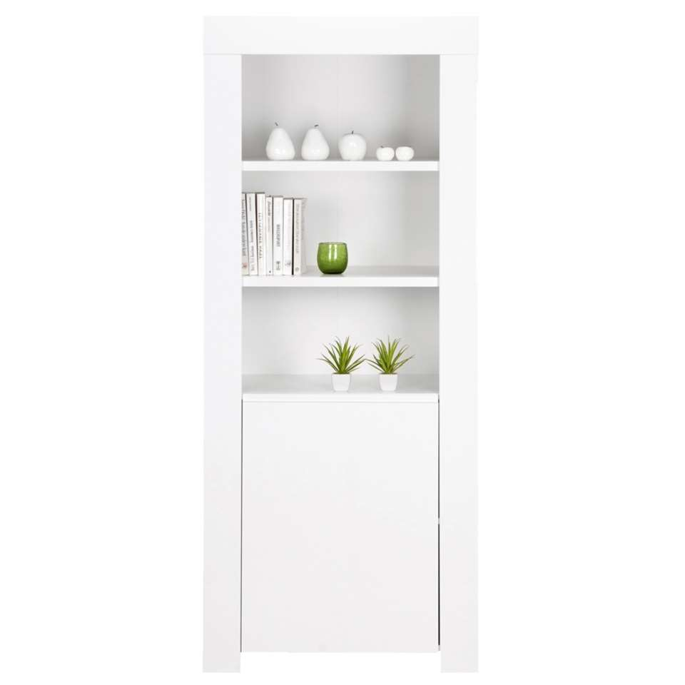 boekenkast amalfi hoogglans wit 170x70x50 cm