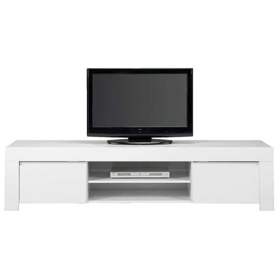 Wit Tv Meubel Glans.Tv Meubel Amalfi Hoogglans Wit 45x190x50 Cm