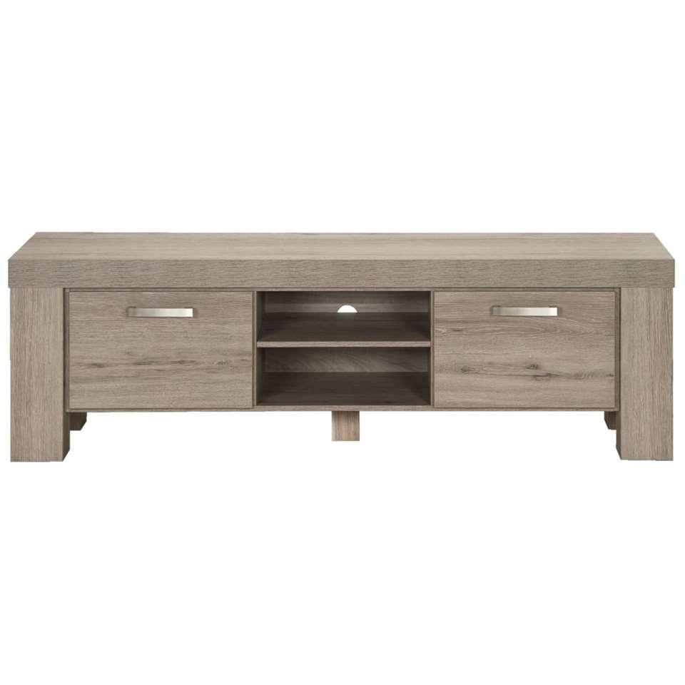 TV-meubel Mick - lichtbruine eikenkleur - 57x182,5x50 cm - Leen Bakker