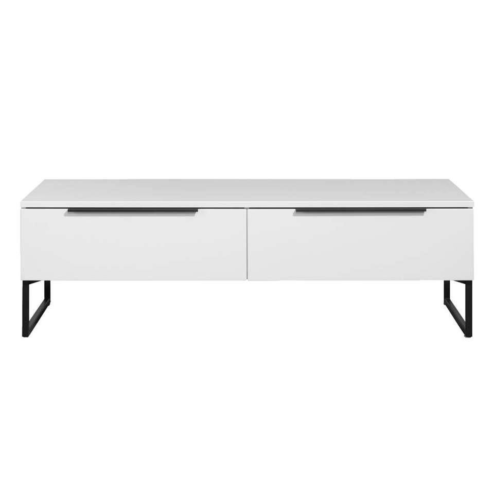 Tv-dressoir Malaga - wit/zwart - 43x141x48 cm